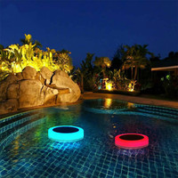 Waterproof Lights RGB LED Underwater Light Solar Powered Pond Light Outdoor Swimming Pool Floating Party Decorative Light