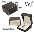 Wholesale Black Faux Leather Jewelry Earrings Pendant Necklace Box Jewellery Gift Storage Boxes Organizer and Packaging Case