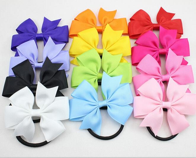 ribbon hair bow with band
