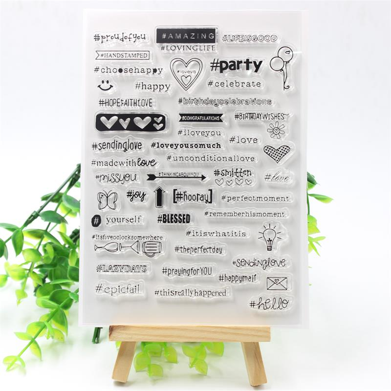 KSCRAFT Party Transparent Clear Silicone Stamps for DIY Scrapbooking/Card Making/Kids Crafts Fun Decoration Supplies