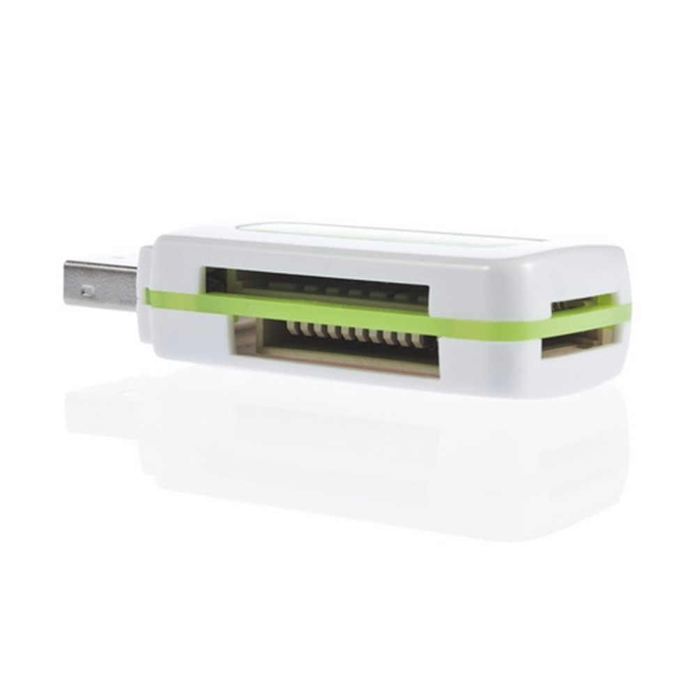 في المخزن! 1 قطعة USB 2.0 4 في 1 الذاكرة قارئ بطاقات متعددة ل M2 SD SDHC DV مايكرو SD TF بطاقة الأخضر شحن مجاني/قطرة