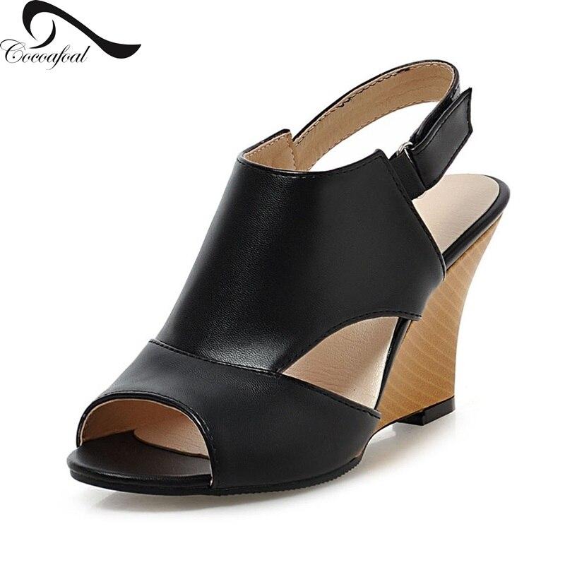 Simple Stylish Fretwork Women Sandals Non slip 8.5 cm Well ...