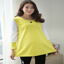 2016 Spring autumn maternity clothes Puff sleeve pregnant women dress maternity top loose
