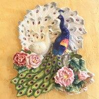 Керамические Павлин любителей декоративные настенные блюда фарфоровые декоративные тарелки старинные домашнего декора ремесел украшения