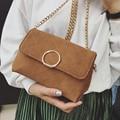 Simple Design Woman Shoulder Bag Matte Pu Leather Crossbody Bags Female Vintage Mini Flap Bag Small Quilted Handbag Chain FI