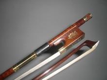 2 PCs Snake wood Quality Violin bow white font b horse b font hair 4 4