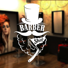 Man Barber Shop Sticker Shave Chop Bread Decal Haircut Shavers Posters Vinyl Wall Art Decals Decor Windows Decoration Mural