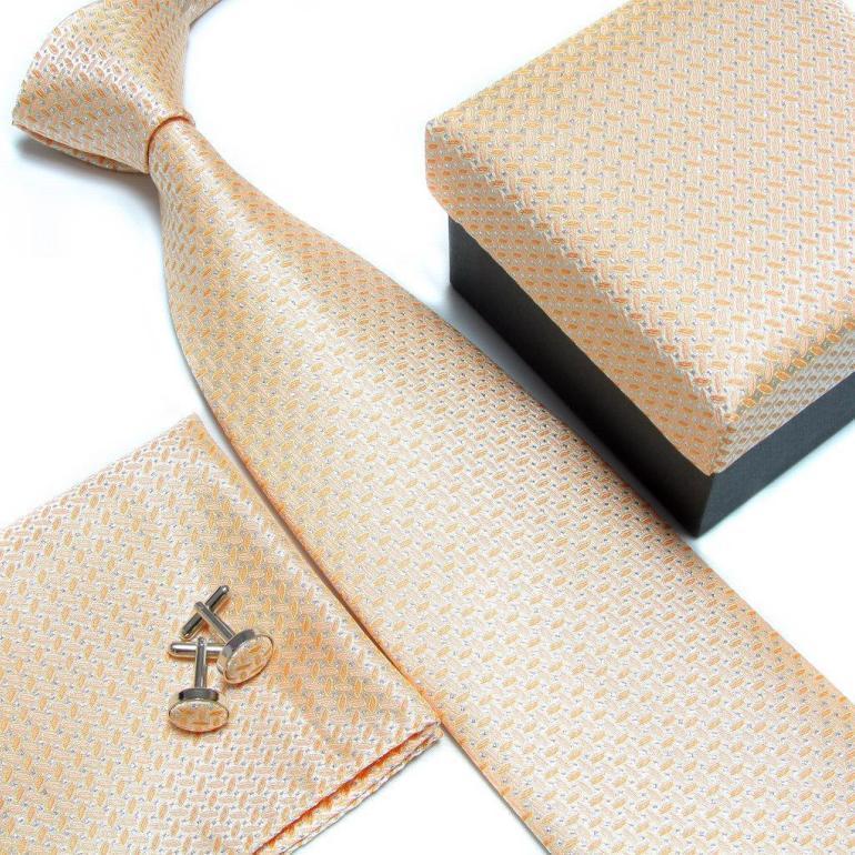 Набор галстуков галстуки Запонки Галстуки для мужчин квадранные Карманные Платки свадебный подарок - Цвет: 21