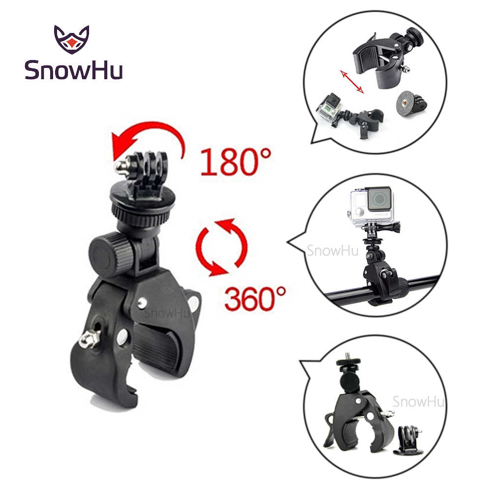 SnowHu For Gopro Accessories Bike Motorcycle Bicycle Handlebar Handle Bar Camera Mount+Tripod Adapter for Gopro Hero 8 7 6 5GP73