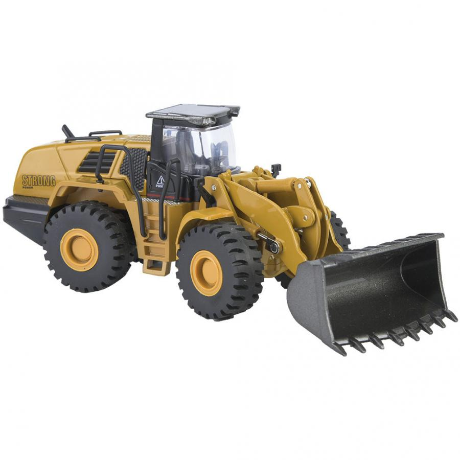 Huina 1714 1:50 Alloy Wheel Loader Model Engineering Construction Car Vehicle Toy