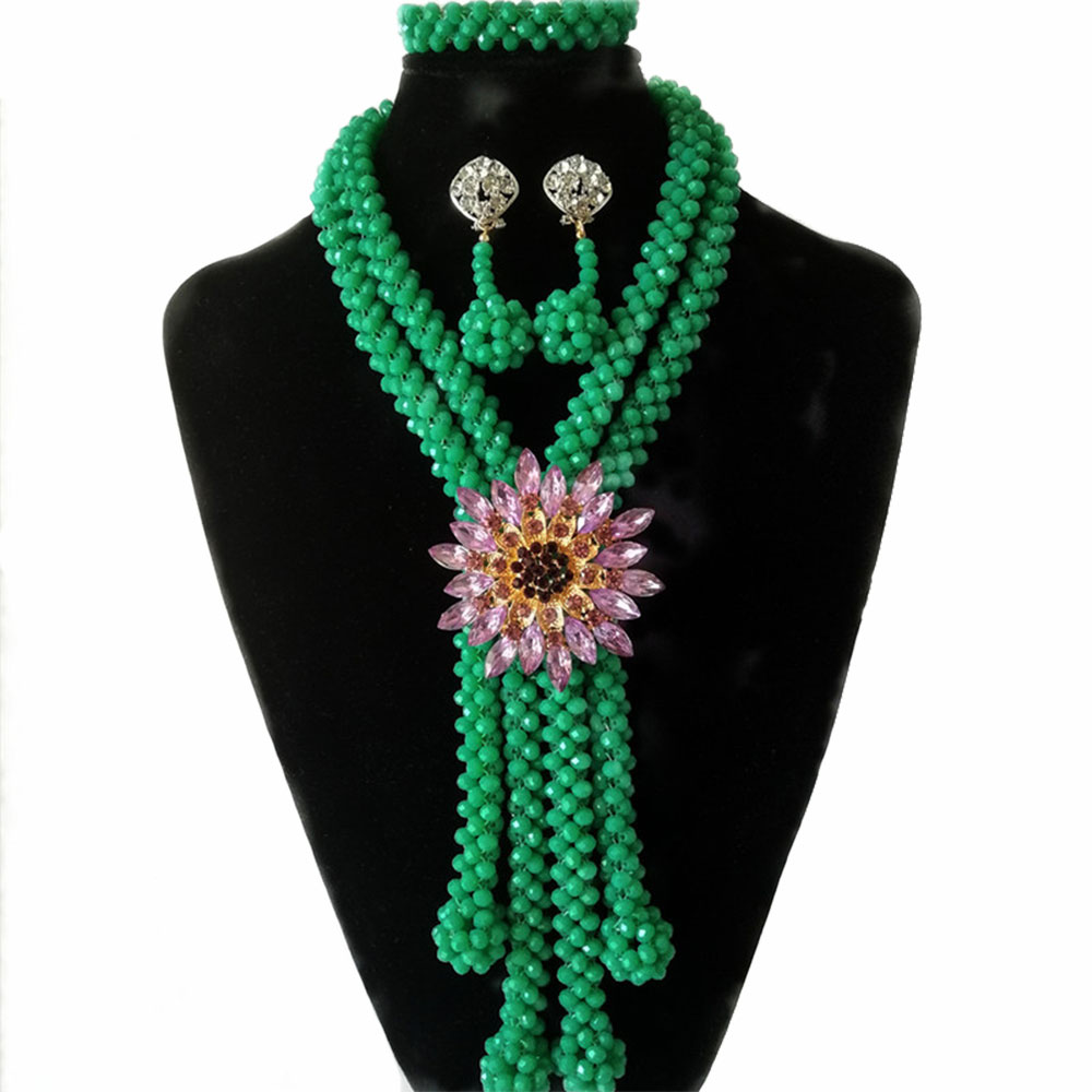 Modeschmuck Statement Necklaces Green Beaded Necklaces For Women Uhren & Schmuck
