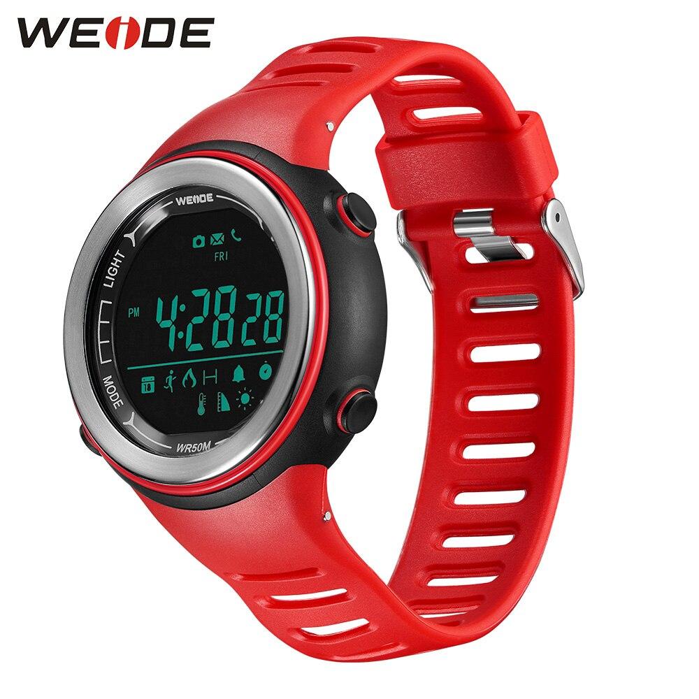 WEIDE Bluetooth Smartwatch Smartwatch sport watch Waterproof for IOS iPhone Men Android Phone Relogio Masculino Valentine Watch цены