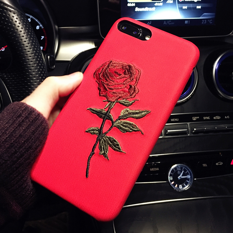 HTB1Bp3ORFXXXXXvXpXXq6xXFXXXf - Hot Sale! Elegant Embroidery Rose Flower phone Case for iPhone 6 /6S /Plus Light Women Stylish Art Vintage phone Back Cover PTC 292