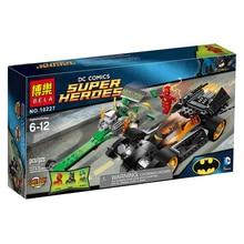 BELA 10227 Batman The Riddler Chase The Flash Super Heroes Minifigures Building Blocks Education Toys