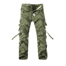 цена 2019 New Army Military Camouflage Overalls Bags Pants Overalls Big Yards Men Camo Combat Work Trousers Overalls онлайн в 2017 году