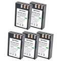 5 Unid EN-EL9A ENEL9A EN EL9A EL9 Batería Recargable Cámara Digital para nikon d60 d40 d40x d5000 d3000 en-el9 el9 batería celular