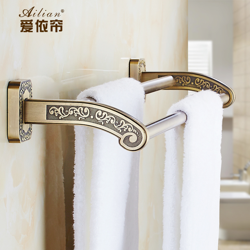 european vintage buckingham palace british antique carved dark towel rack double towel hanging bathroom accessories shelf
