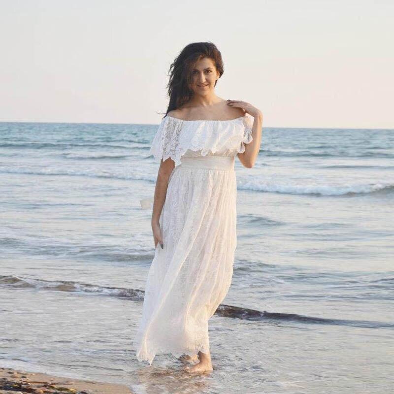 Bohemian Lace Wedding Dresses 2016 Summer Beach Bridal Gowns Vintage