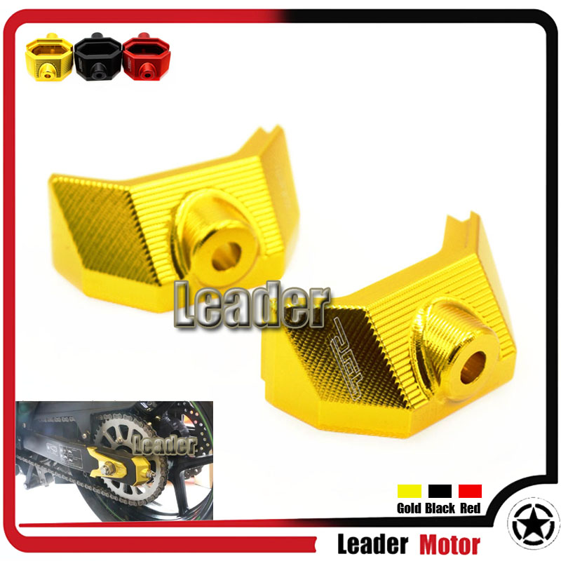 For Kawasaki Z800 Z 800 2013 2014 2015 2016 Motorcycle Accessories CNC Rear Fork Spindle Chain Adjuster Blocks Gold
