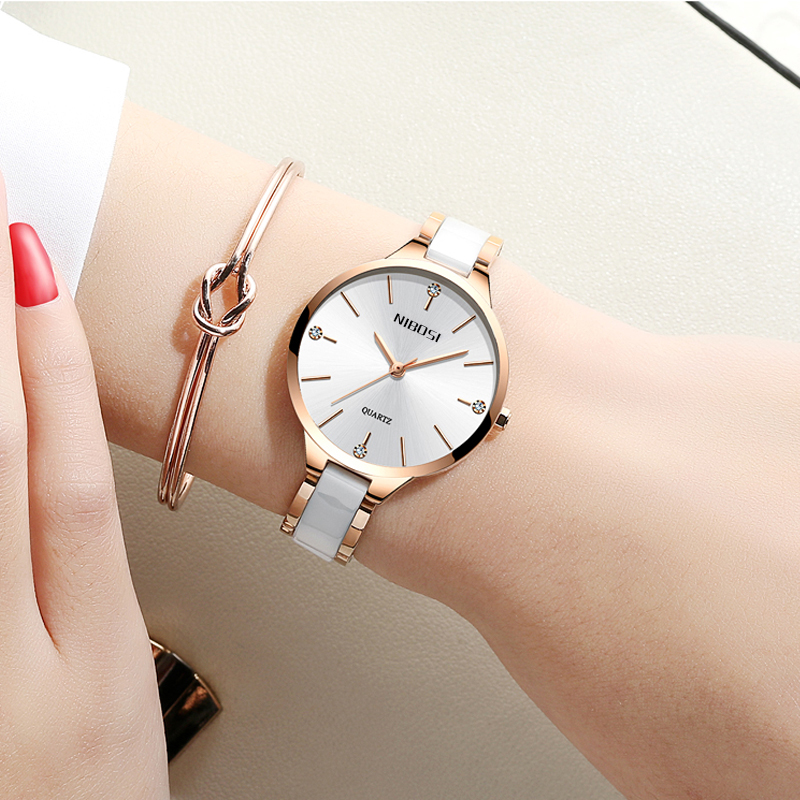 NIBOSI Watch Women Watches Ladies Creative Women's Ceramic Bracelet Watches Female Clock Relogio Feminino Montre Femme 4