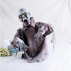 Хэллоуин качели Призрак Череп ужасный украшения дом с привидениями ужасов Электрический реквизит большие реквизит «зомби» для костюма