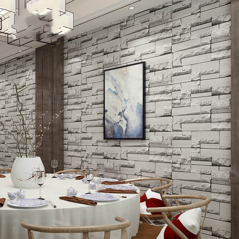 Vintage Rustic Grey White Brick Wallpaper Roll Bedroom Dinning Living room Wall Covering Modern 3D/4D Wall Paper Home Decor 2 sheet pcs 3d door stickers brick wallpaper wall sticker mural poster pvc waterproof decals living room bedroom home decor