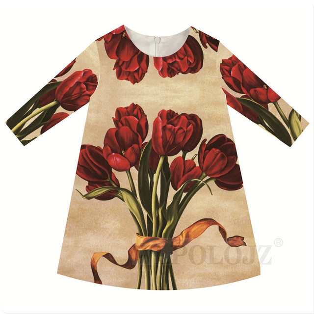 9ace3a4f2dc4 2 10Y Autumn Girl Dress New Brand Princess Dress Girl Clothes red ...