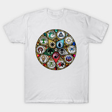 Magic The Gathering MTG Stained Glass T-shirts Short Sleeve O-neck 2018 Summer Fashion Casual Mens Clothes cmt
