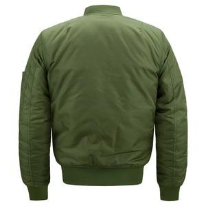 Image 2 - Men Jackets Bomber Thicken Cotton Coats Winter Autumn Mens Pilot Jacket Male Big Size 7XL 8XL Man Overcoat Drop Shipping,ZA219
