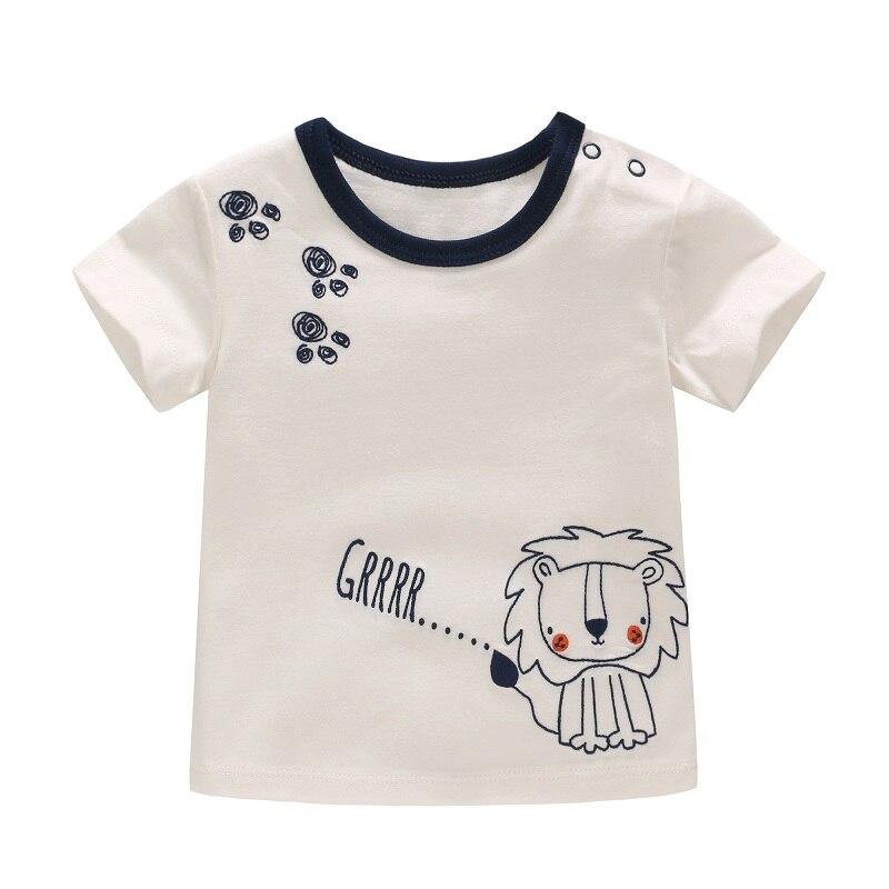 Vlinder Baby Boys Clothes Boy T-shirt Summer Short Sleeves Baby Tops Newborn Snug T-Shirt Infant Cute Lion Printing T-shirt