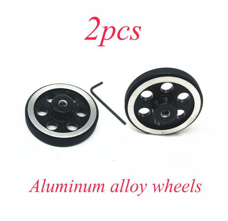 Free Shipping 2PCS Robot Metal Load-bearing Wheels Rubber Tire For DIY Robot Car Model Diameter 65mm Spare Part provide high performance model car bearing sets kyosho triumph of free shipping