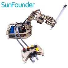 SunFounder DIY Kit de $ Number Ejes de Control de Servo Brazo Robótico De Madera Rollarm para Arduino