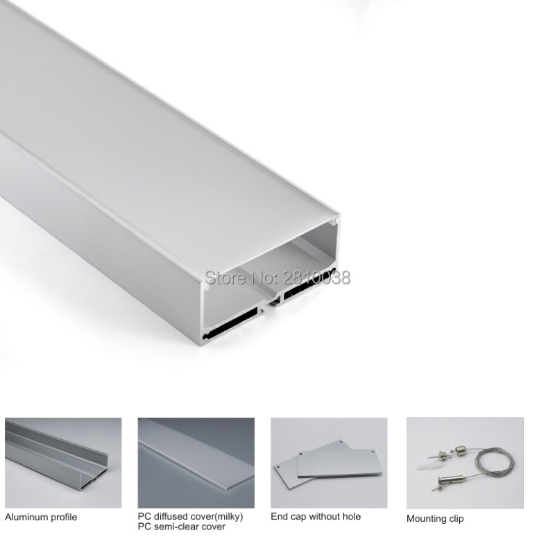 conjuntos 10x2 m lote escritorio iluminacao canal de aluminio tira conduzida e super grande u