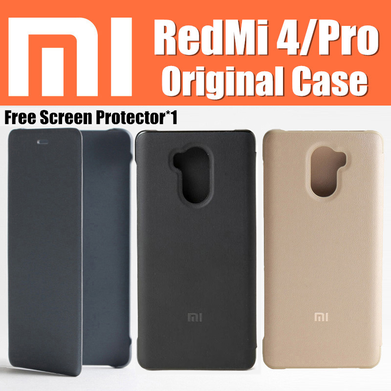 "xiaomi redmi 4 pro case 100% original flip cover funda Snapdragon 625/430 5"" for xiaomi red mi 4 case redmi 4 redmi4 redmi4"