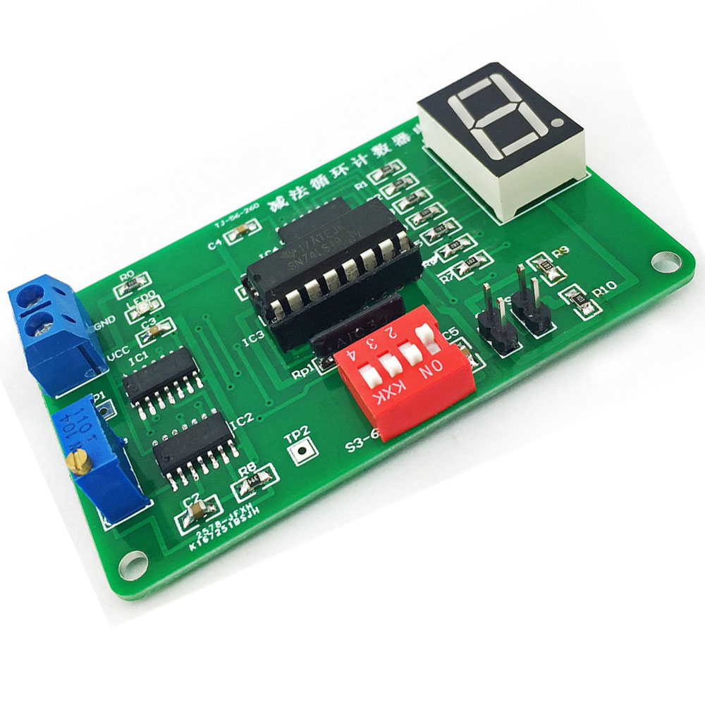Cnikesin Diy Subtraction Loop Counter Circuit Kit 74ls192 Parts With Touch Switch Using Cd4011 Electronic Circuits And Diagram Simulation Suite Digital Timer In Integrated From
