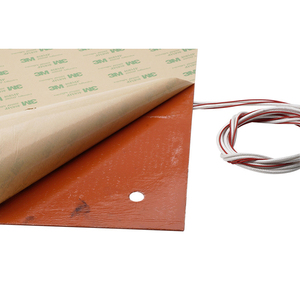 Image 4 - CR 10 CR 10S 310*310MM Silicone Heater Pad 220V 750W silicone Heatbed 3M adhesive for cr10 cr10s 3D build plate heating parts