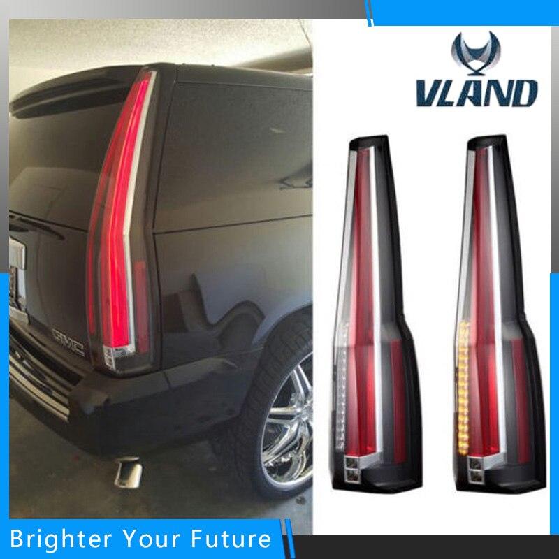 vland tail lamp for chevrolet suburban tahoe gmc yukon tail lights 2007 2014 rear lamp brake