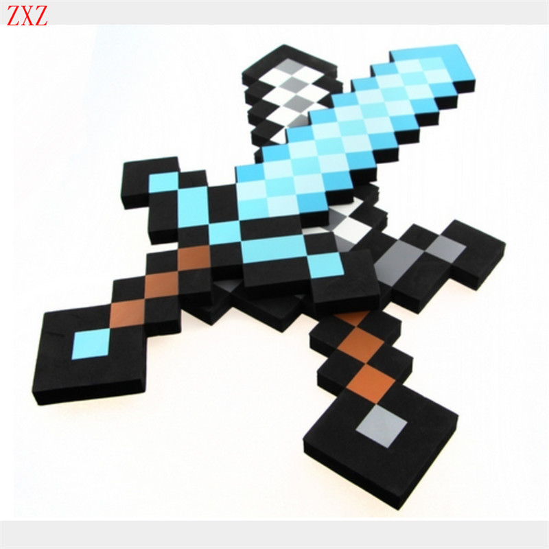 Cosplay Minecraft toys cosplay foam sword pickax gun EVA toys Minecraft diamond weapons model toys Brinquedos for kids gift COOL tax policy and the economy v18