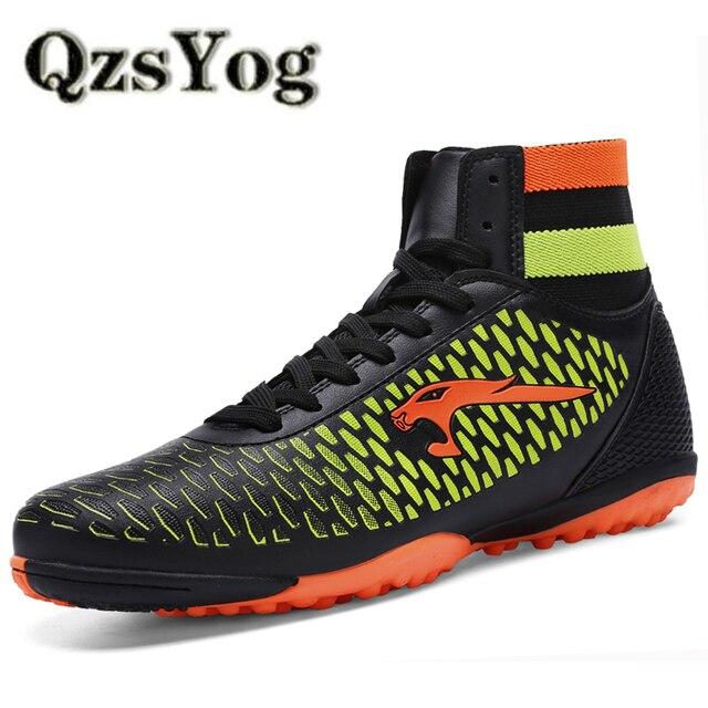 new product f0a0b 30ab7 US $20.21 44% di SCONTO|QzsYog Big Size 34 46 Scarpe Da Calcio  Professionali Per Gli Uomini Tacchetti Calcio Sport scarpe Da Tennis  All'aperto Maglia ...