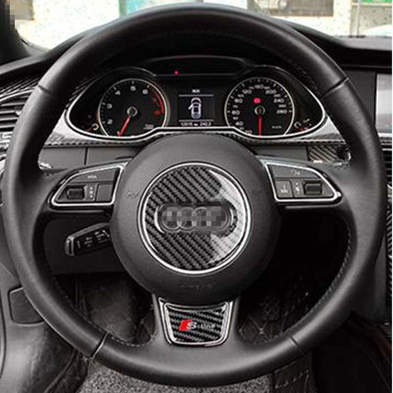 A3 S3 Carbon Fiber Interior Moldings Steering Wheel Panel Trim Cover For Audi A3 S3 2014 2016