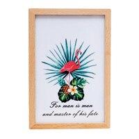 Ins Europa Flamingi Drewno Ramka na zdjęcia Pozytywka Home Dekoracje Kreatywny Wielofunkcyjny Craft Figurkę Mody Prezent Dla Pary