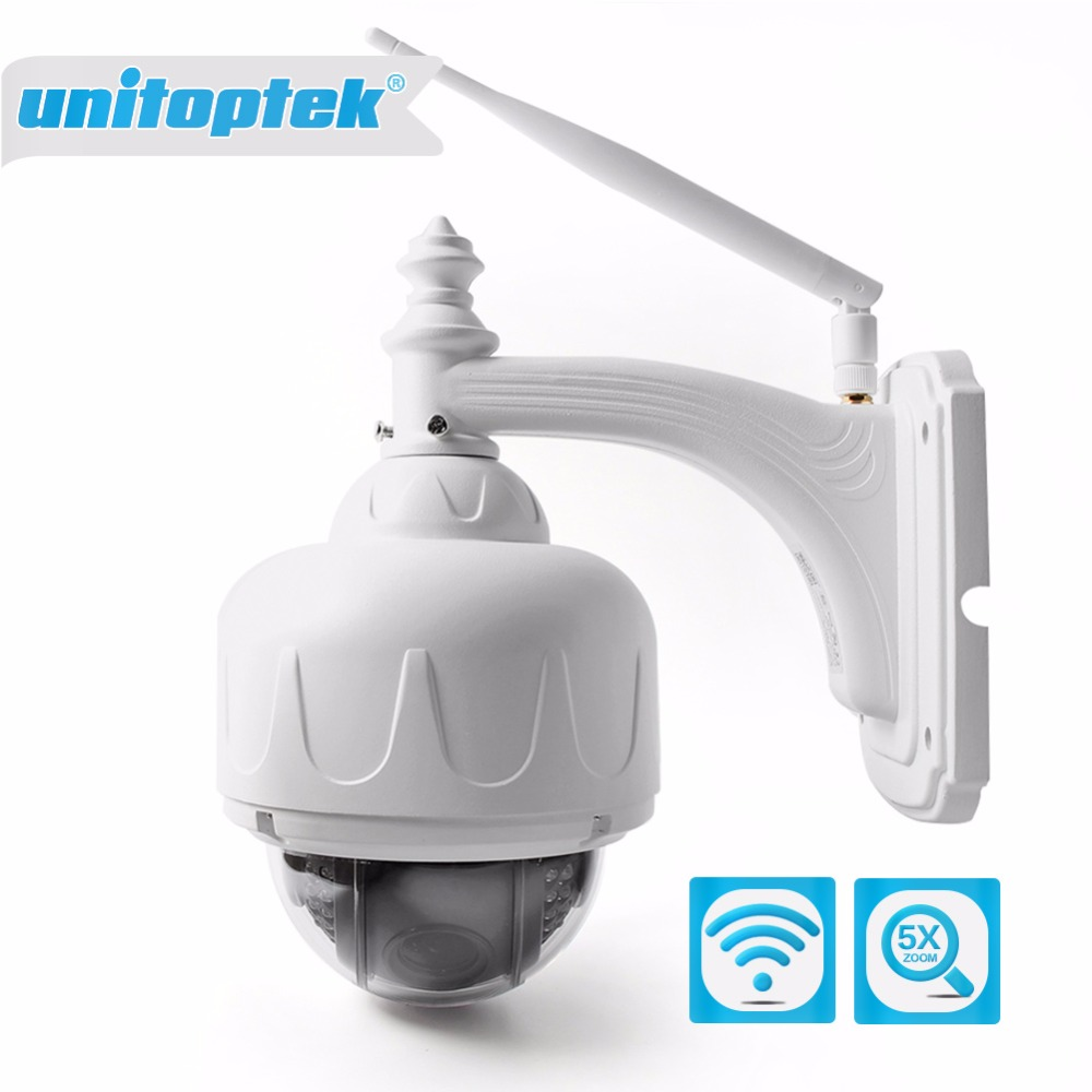 Wireless IP Speed Dome Camera Wifi HD 1080P PTZ Outdoor Security CCTV 2.7-13.5mm Auto Focus 5X Zoom SD Card ONVIF Wi-Fi Cameras 2016 outdoor 1080p wifi ptz camera array ir 2 8 12mm lens 4x optical zoom auto focus waterproof speed dome cam support sd card