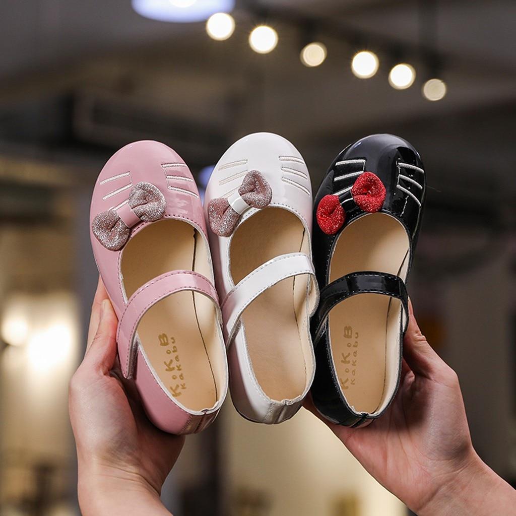 Princess Shoes Bowknot Toddler Baby-Girl Kids Cat Single-Sneakers Dance Cartoon