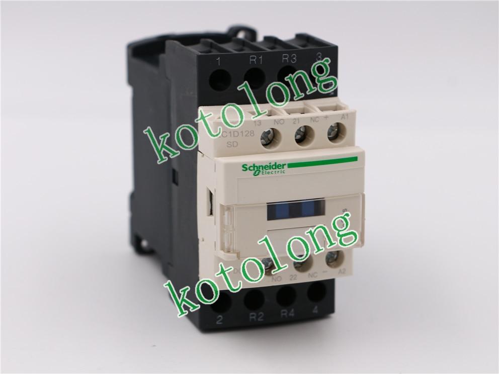 DC Contactor LC1D128 LC1-D128 LC1D128SD LC1-D128SD 72VDC lc1d series contactor lc1d09 lc1d09kd 100v lc1d09ld 200v lc1d09md 220v lc1d09nd 60v lc1d09pd 155v lc1d09qd 174v lc1d09zd 20v dc
