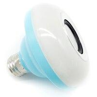 Głośnik Bluetooth Inteligentne Światła E27 Żarówka LED RGB Kolorowe Lampy Inteligentny Muzyka Audio Głośnik Bluetooth Ściemniania DOPROWADZIŁY Odtwarzacz Muzyczny