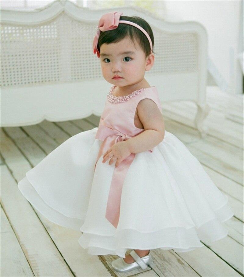 Newborn Baby Girl 1st Birthday Outfits Little Bridresmaid ...