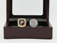 Free Shipping MLB 1980 2008 Philadelphia Phillies Full Set Sport Copper Ring With Wooden Box Replica
