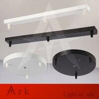 Chandelier Ceiling Plate Vintage Metal Ceiling Plate DIY Lighting Accessories Light Base Round Rectangle Colour Black