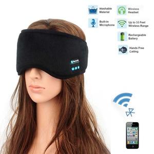 Image 1 - JINSERTA Wireless Bluetooth 5.0 Earphone Sleep Mask Phone Headband Sleep Soft Headphone For Listenting Music Answering Phone