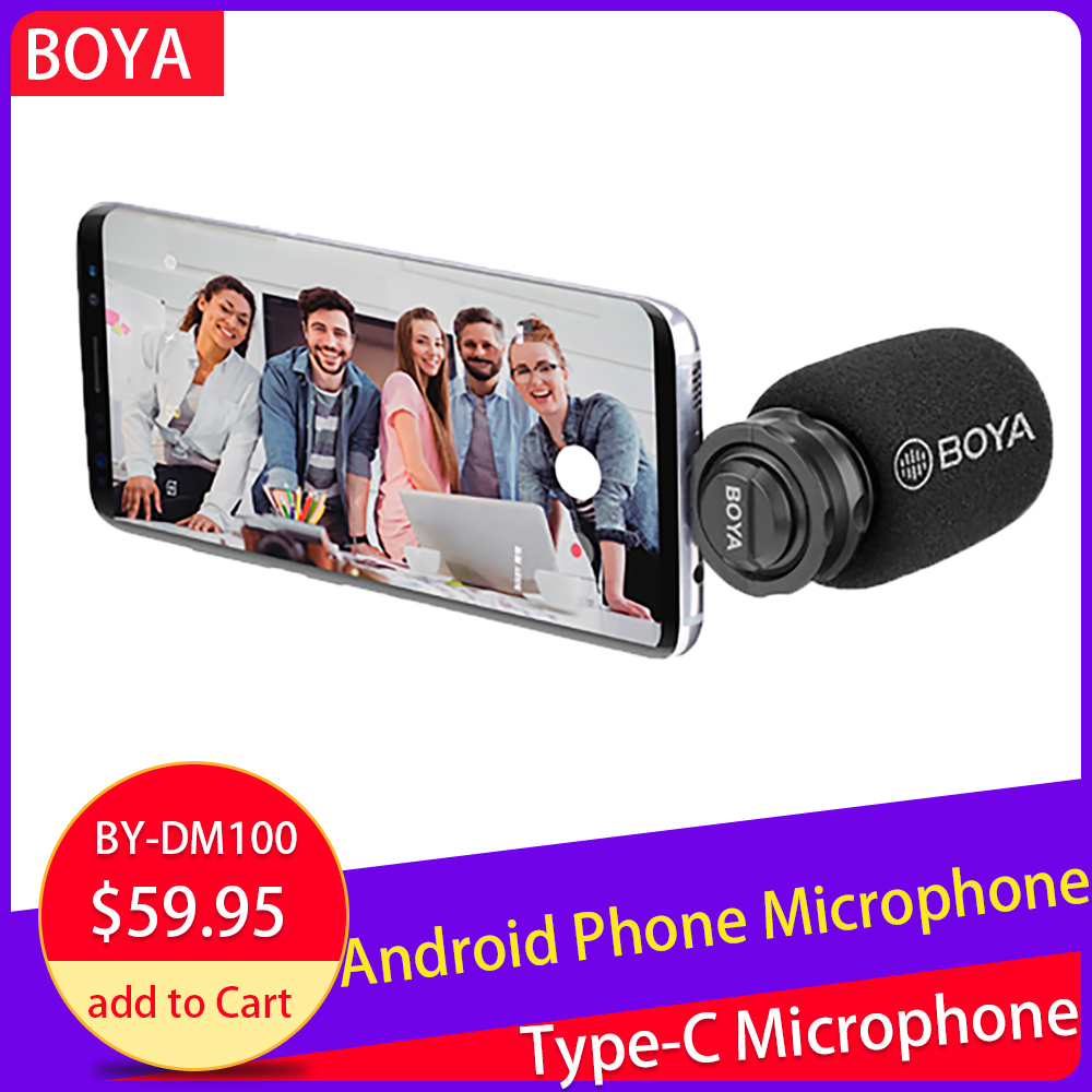 BOYA BY DM100 MIC Digital Stereo Phone Microphone Condenser Android Record Microphone Type C Port for